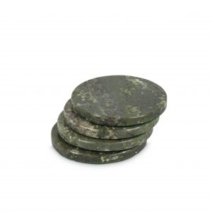 Set of 4 Circular Connemara Marble Coasters